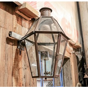 Hexagonal Gas Sconce Light