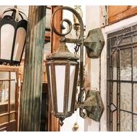 Gothic Revival Bronze Sconce Light - Pair