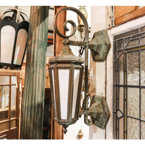 Gothic Revival Bronze Sconce Light - Pair