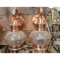 pair of craftsmen copper sconces