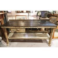 Industrial Hardwood Table