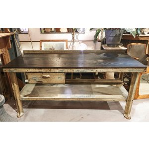 Industrial Hardwood Table