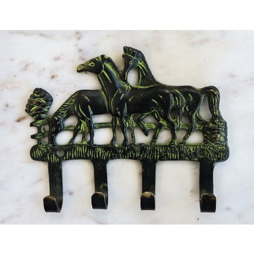 Horse Decor Wall Hooks For Coats and Keys from India