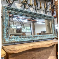 Reclaimed Mirror in Johdpur Blue from Northern india