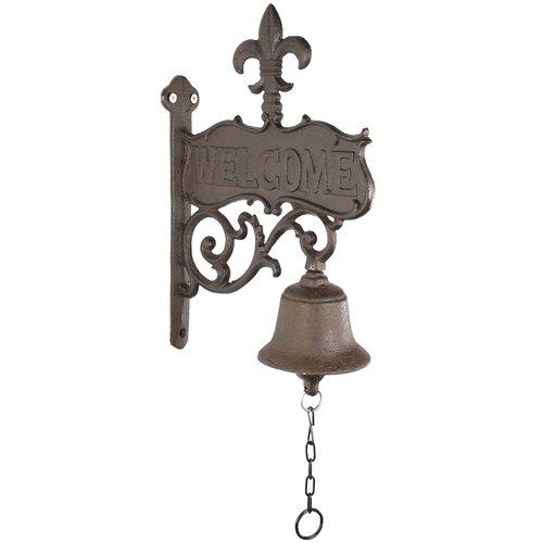Fleur-De-Lis Welcome Bell
