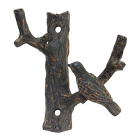 Pewter Bird Hook - Rust