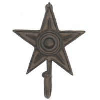 Rustic Iron 5 Point Star Wall Hook
