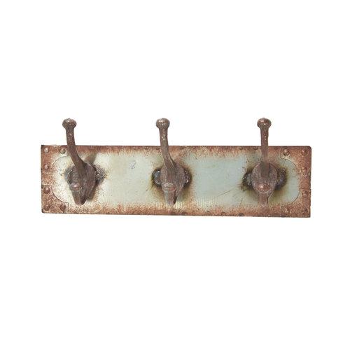 Distressed Steel Coat Rack