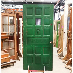 10 Panel Green Door with Speak Easy