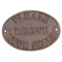 Please Remove Your Shoes - Sign