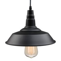 Black Industrial Pendant Light