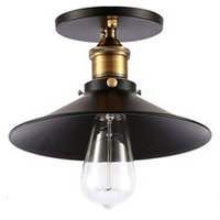 Black and Brass Industrial Ceiling Light