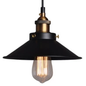 Black and Brass Industrial Pendant Light