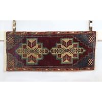 Handmade Vintage Turkish Kilim - Maroon + Teal