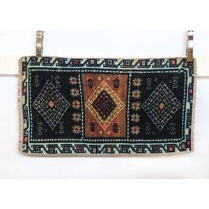 Handmade Vintage Turkish Kilim - Blue + Brown
