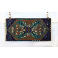 Handmade Vintage Turkish Kilim - Blue + Purple