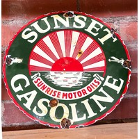 Sign - Sunset Gasoline - Sunrise Motor Oils