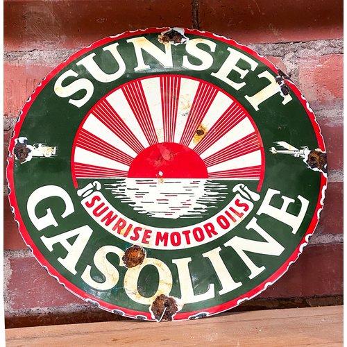 Sign - Sunset Gasoline - Sunrise Motor Oils
