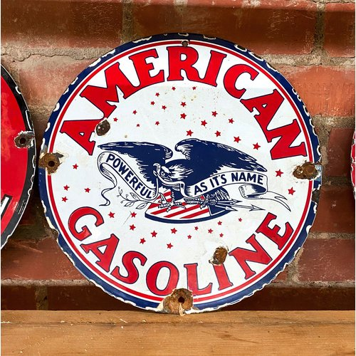 Sign - American Gasoline - Powerful As It's Name
