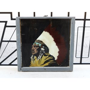 Native American Painted Sign from St. Louis