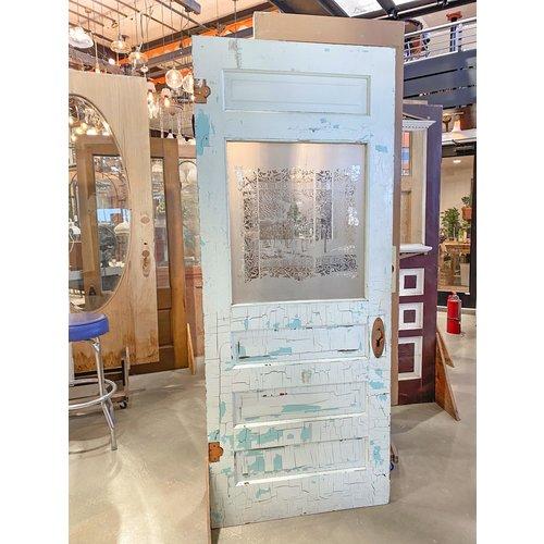 4 Panel Half Light Door with Etched Glass
