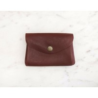 Maroon Coin Purse-Marshé Leather