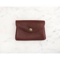 Maroon Coin Purse-Marshé Leather