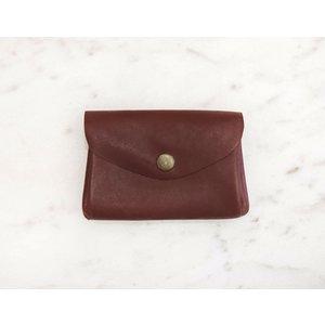Marshe Maroon Coin Purse-Marshé Leather