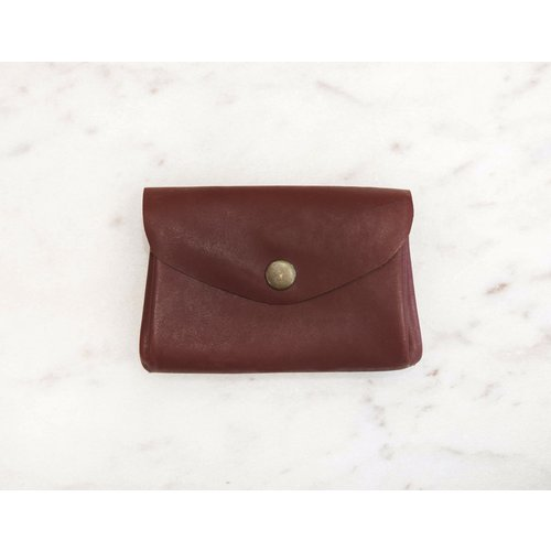 Marshe Maroon Coin Purse-Marshé Leather