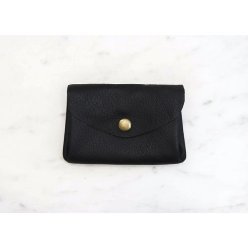 Marshe Black Coin Purse- Marshé Leather