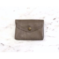 Taupe Grey Coin Purse- Marshé Leather