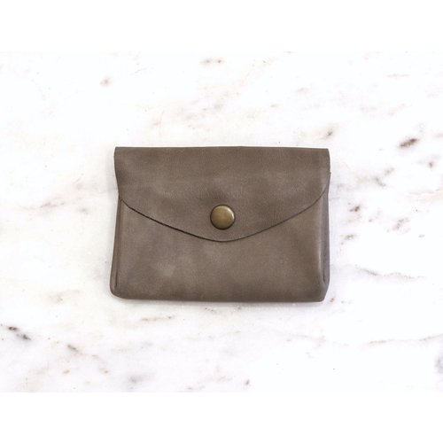 Marshe Taupe Grey Coin Purse- Marshé Leather