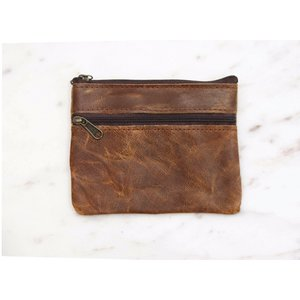 Marshe Brown Leather Coin Purse- Marshé