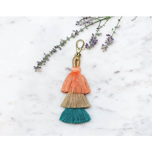 Marshe 3 Layered Tassel No.3 -Bag Charm