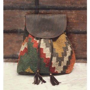 Marshe Boho Fabric + Leather Marshé Backpack