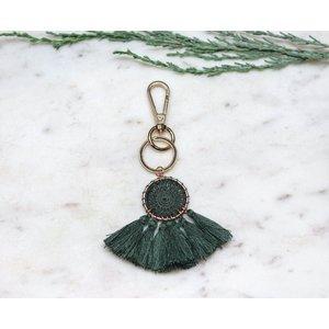 Marshe Handmade Forest Green Dream Catcher -Bag Charm