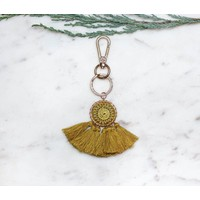Handmade Mustard Dream Catcher -Bag Charm