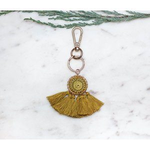 Marshe Handmade Mustard Dream Catcher -Bag Charm