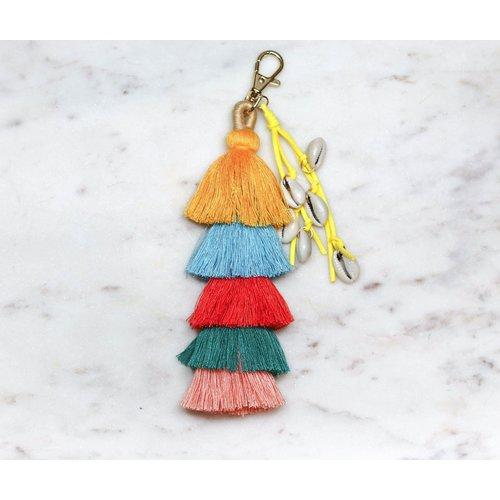 Marshe Tassels w/ Shells -Bag Charm