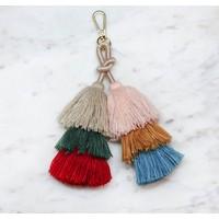 Layered Tassel No. 1 - Bag Charm