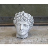 Greek Head with Leaves Pot