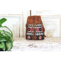Coral Marshé Leather + Fabric Backpack