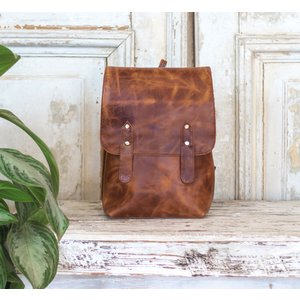 Marshe Full Grain Marshé LeatherBackpack