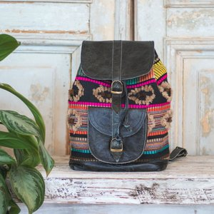 Marshe Boho Marshé Black Leather Backpack