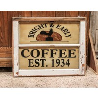Bright & Early Coffee Painted Sign from St. Louis