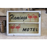 Flamingo Motel Painted Sign from St. Louis