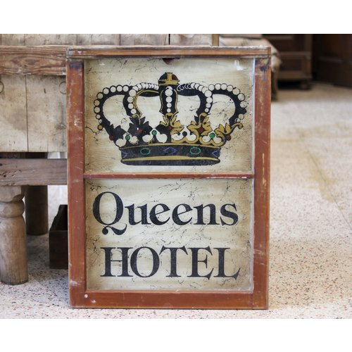 Queens Hotel Painted Sign from St. Louis