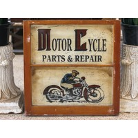 Motor Cycle Repair Painted Sign from St. Louis