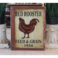 Sign from St. Louis - Red Rooster Feed & Grain 1934