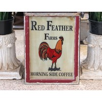 Sign from St. Louis - Red Feather Farms Coffee